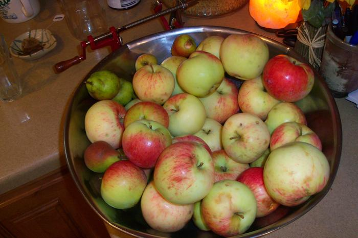 One pile o' apples
