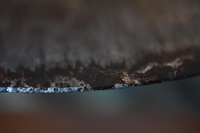 Macro of dull edge