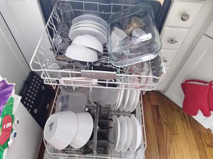 Dishwasher full, now a giant drying rack