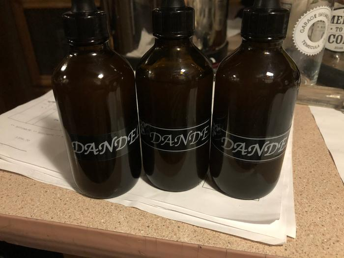 completed dandelion root tincture