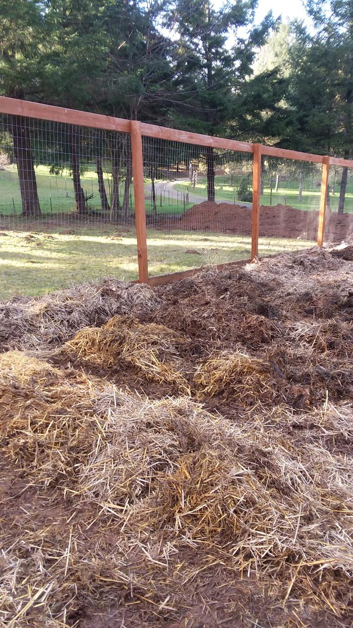 Beds formed by piling straw