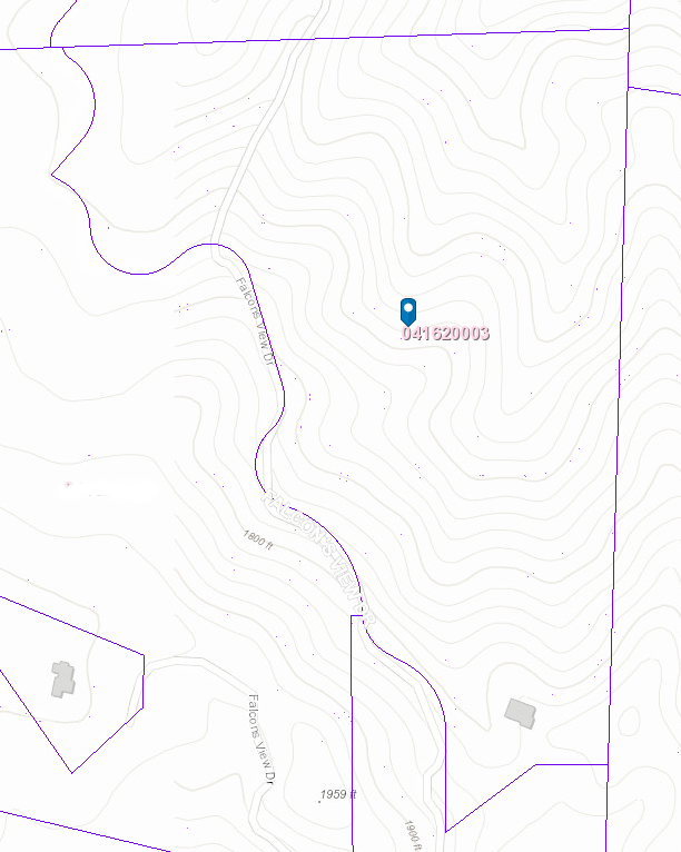 A topo map of the property.