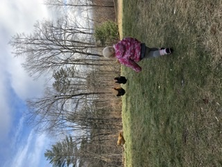 Chickens and granddaughter!