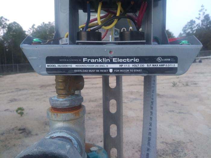 Well pump motor franklin electric