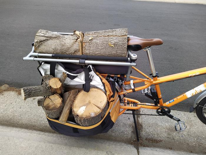 That other wood arrived by bike