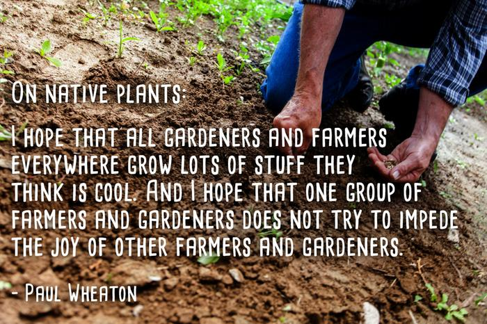 I hope that all gardeners and farmers everywhere grow lots of stuff they think is cool. And I hope that one group of farmers and gardeners does not try to impede joy of other farmers and gardeners.