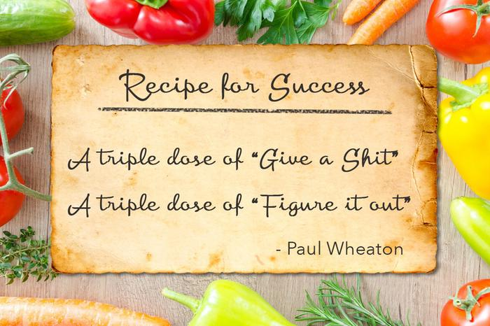 Recipe for success. A triple dose of