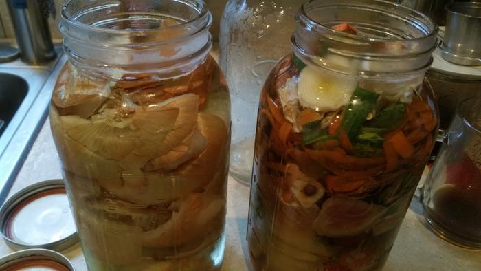 vegetable scraps for broth