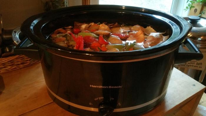 making broth in crockpot