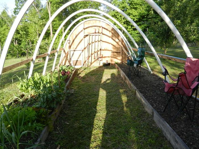 Hoop house without film