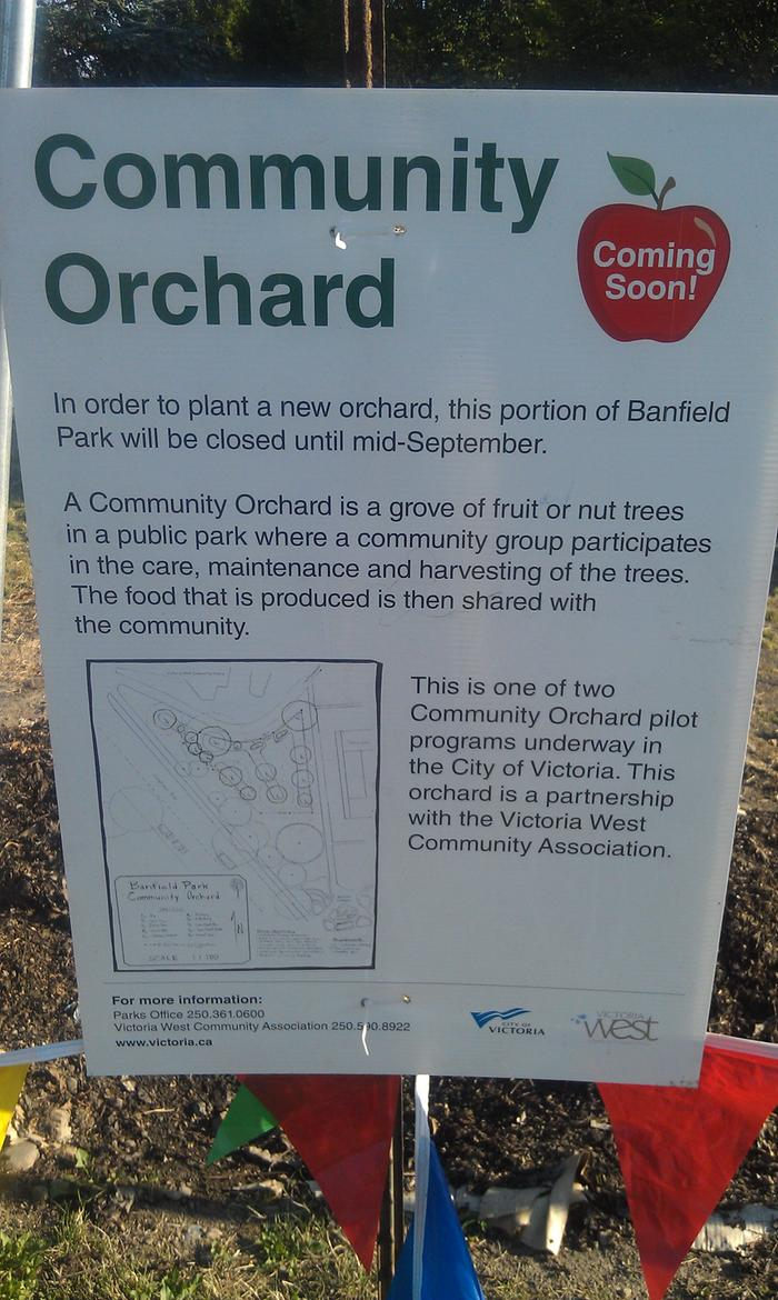 A new hugelkultur community orchard was planted in Vic West last Sunday.