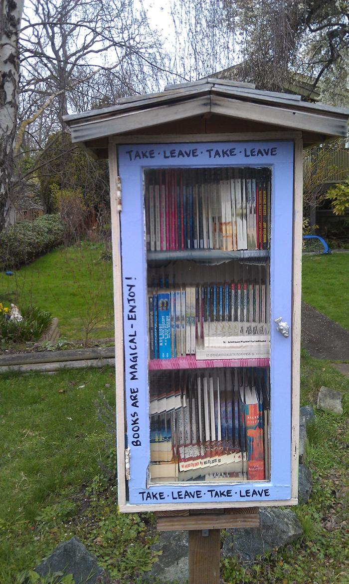 Many little free book exchanges have popped up.