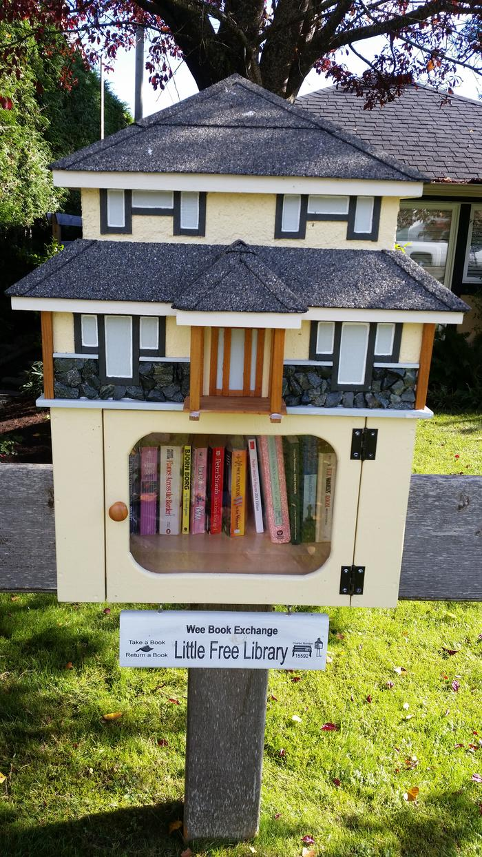 This little library is the first one on the new registry that the public library has started