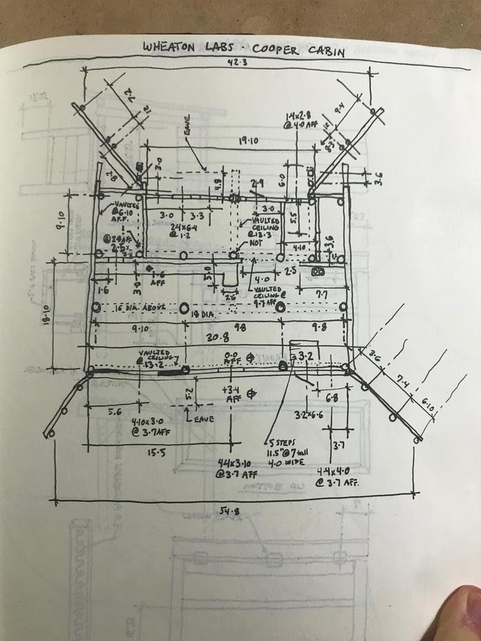 Cooper Cabin measurements sketch