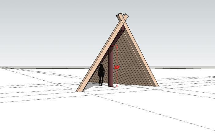 gable shed tipi