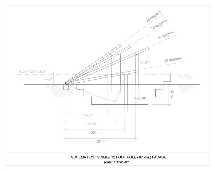 Schematics : Single 12 Foot Pole (16 dia.) Facade