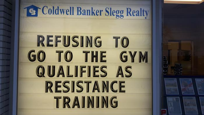 As someone who doesn't like unpaid exercise, or rules, I resist all training