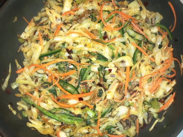 spicy stir fried veggies