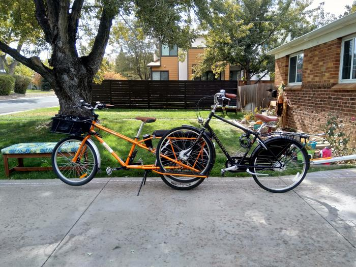 my bike is hauling another bike