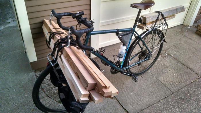 There are several lumber stores and furniture makers who put out their scraps on my commute