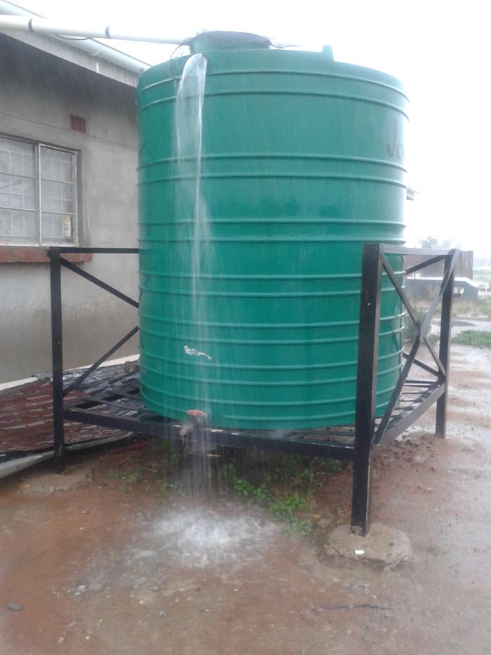 there is more than enough water (overflowing rainwater harvesting tank)