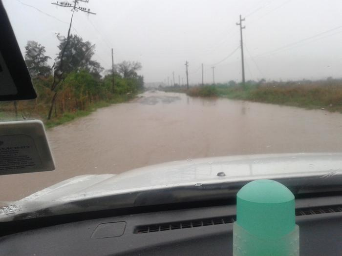 roads flooded with water