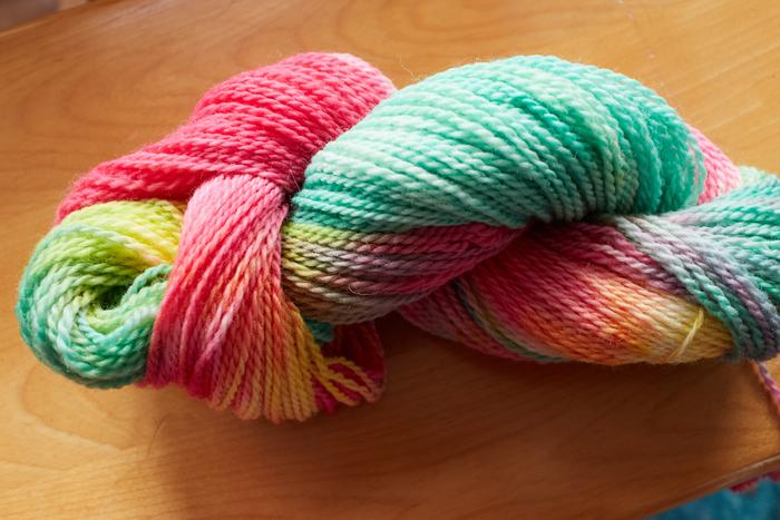 cherry blossom dyed yarn