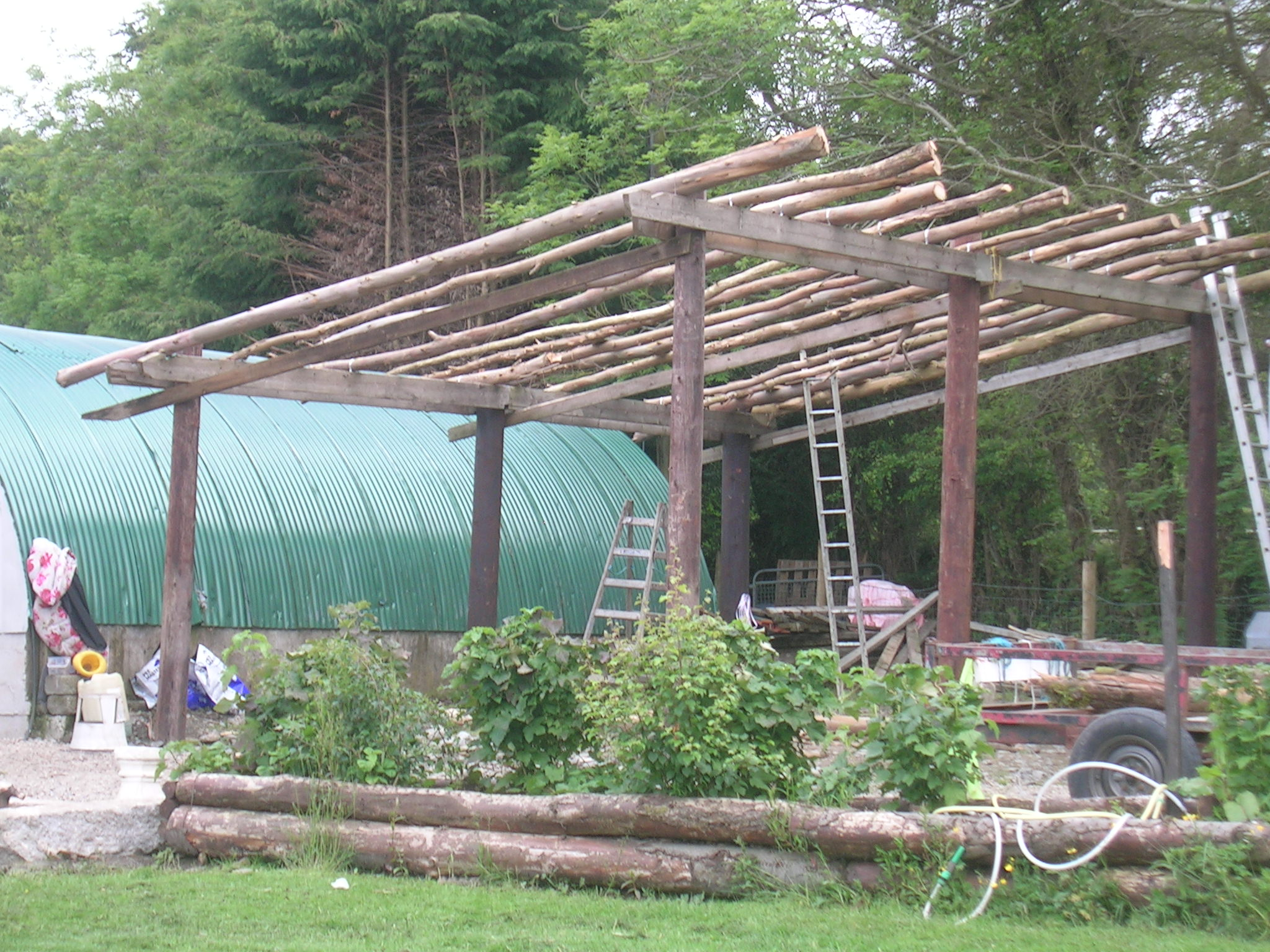 lean to project (natural building forum at permies)