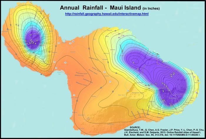 Rainfall Annual Maui source Dick Mayer