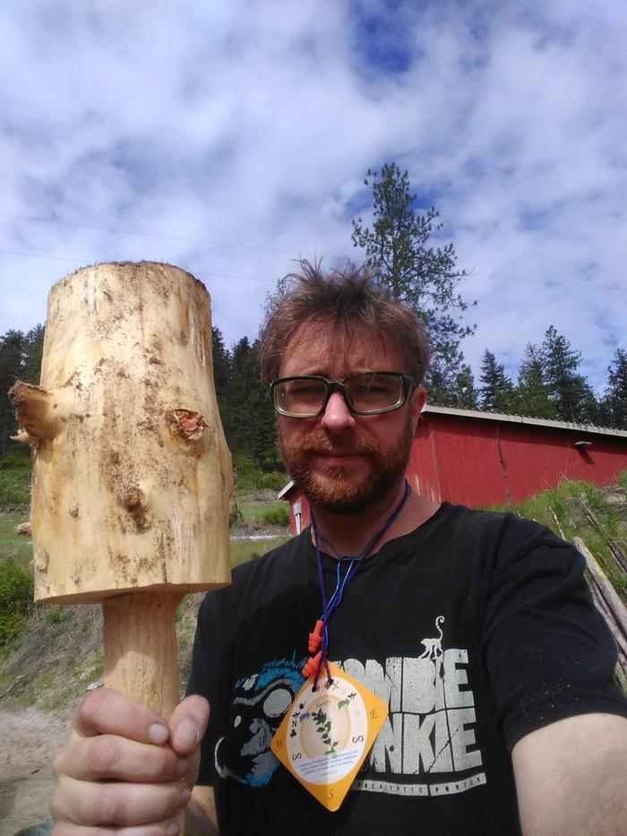 hand made wooden mallet