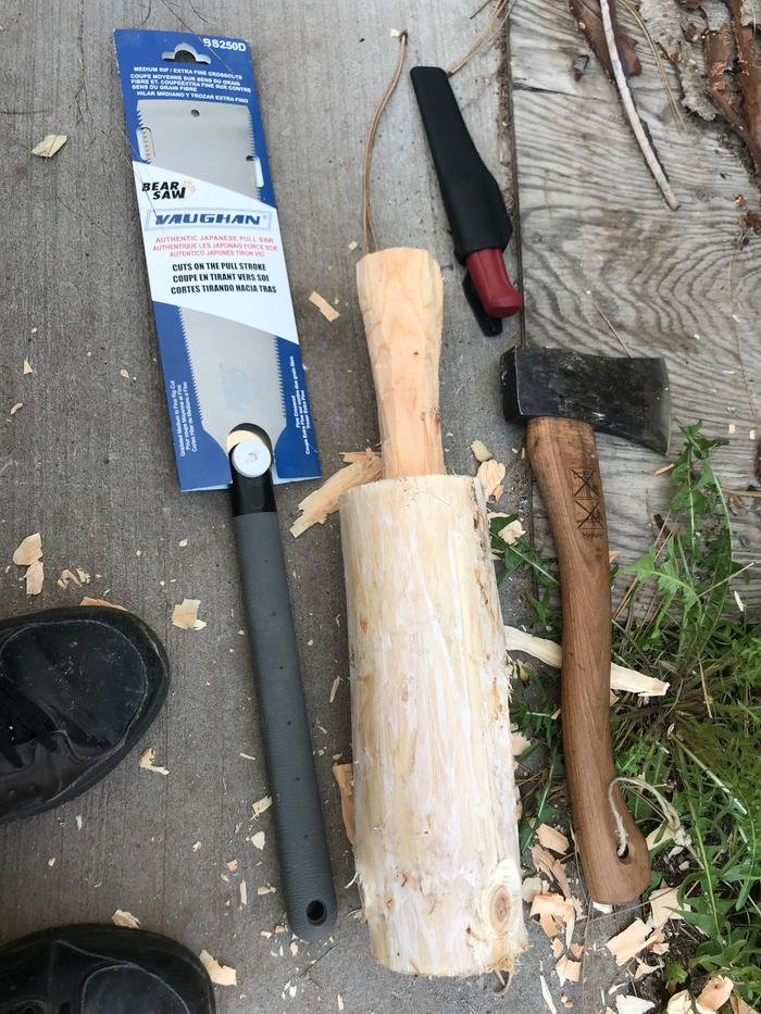 shaping wooden mallet