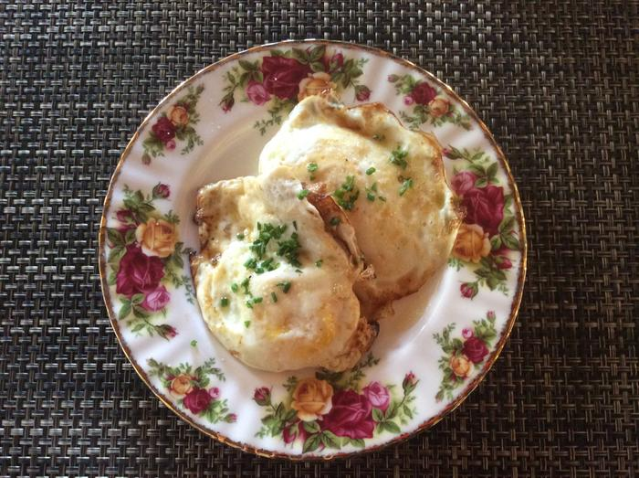 Posh fried eggs