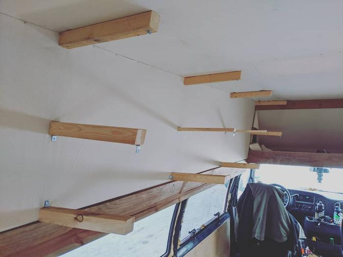 Wall supports attached to framing
