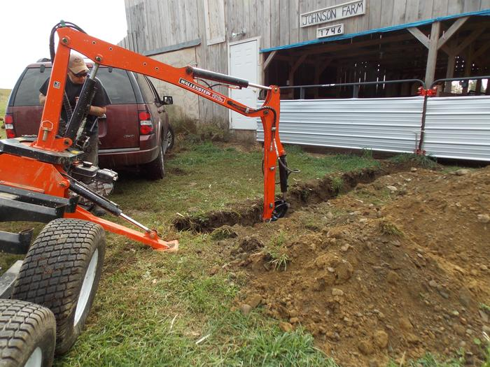Starting the dig at the barn and working backwards towards the house